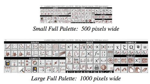 LiveMath 3.6 Larger Palette
