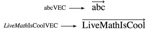 LiveMath 3.6 Variable Marks