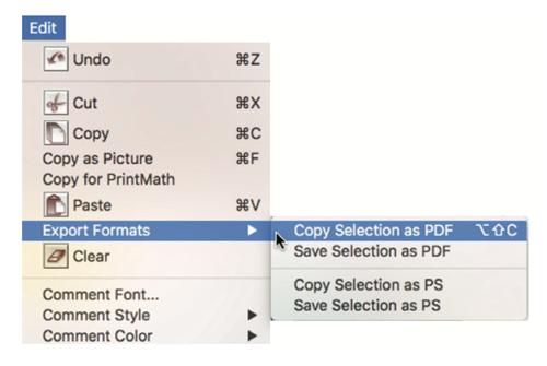 LiveMath 3.6 Export as PDF